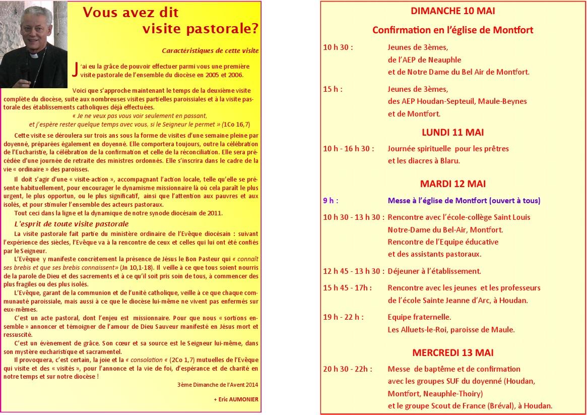 Programme de la visite pastorale du doyenn de maule for Univers du jardin maule 78