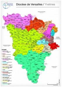Carte du diocèse de Versailles