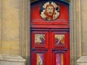 Porte sainte de la cathédrale de Versailles