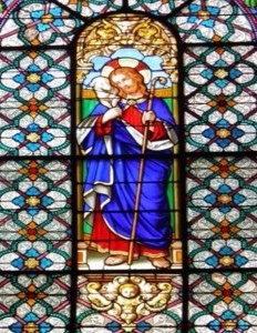 Vitrail du bon pasteur, église st Wandrille du Pecq