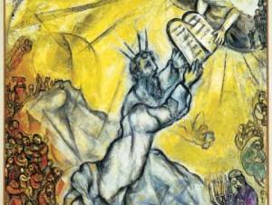 Moïse recevant les tables de la loi, Marc Chagall