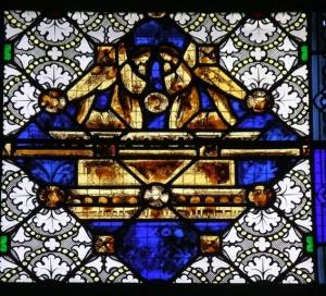 Coignières, vitrail nef, arche d'alliance détail