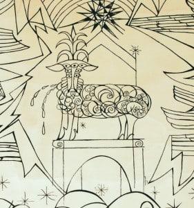 Villepreux, intérieur, agneau immolé, photo Bernard de salaberry