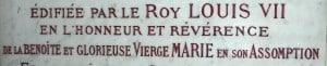 détail dédicade à la benoîte Verge Marie,