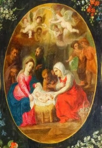 retable médaillon Nativité, N.lockhart