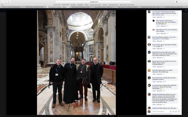# Pèlerinage des prêtres : un lien étroit avec les paroissiens grâce à Facebook !